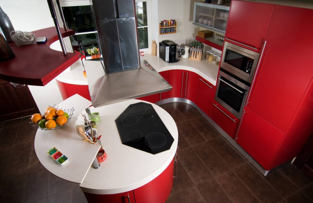 Το κόκκινο χρώμα στην κουζίνα