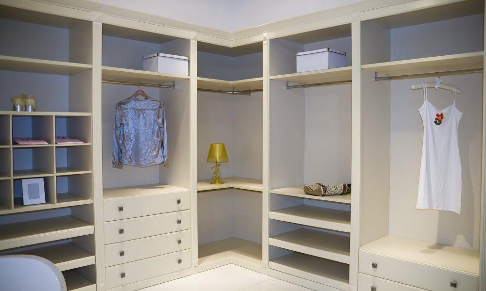 a modern dressing room interior detail .